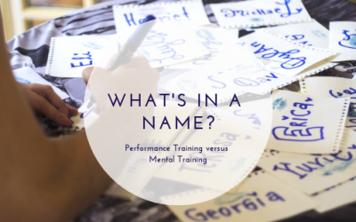 What's in a Name? Performance Training versus Mental Training