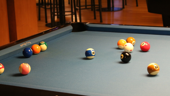 playing pool and Jumping
